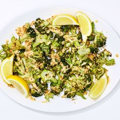 Crispy roasted broccoli with tahini sauce // High heat and the simplest sauce ever make for roasted veggies that feel like a dish, not an afterthought. Roasted Vegetables, Veggies, Lemon Fish, Tahini Sauce, Broccoli Recipes, Vegetable Recipes, Sauce Recipes, Roast Recipes, Side Dishes