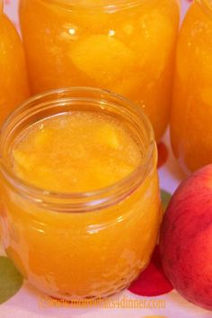 Peach Freezer Jam on http://momwhats4dinner.com/peach-freezer-jam/