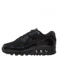 Nike Sportswear - AIR MAX 90 PREMIUM - Sneakers laag - black/metallic silver