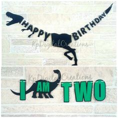 Banner de cumpleaños de dinosaurio dinosaurio trona banner