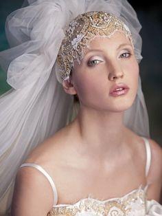 Bridal wedding luxury pouf veil with bedding headpieces | Women's Bridal Headpieces
