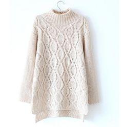 Cotton blend beige sweater for women - Sweaters