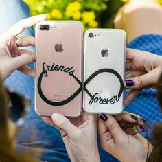 Best Friends 😘❤️ Bff Cases, Cute Phone Cases, Iphone Phone Cases, Phone Covers, Cover Iphone, Friends Phone Case, Diy Phone Case, Coque Iphone Originale, Best Friend Gifts