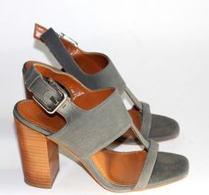 51f5223aa0b Calvin Klein Lanette Grey Canvas Open Toe Strappy Sandals – Joyce s Closet   60 Luxury Bags