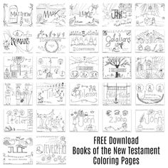 Use The Link Below To Download All 27 Coloring Pages Weve Created For Books Of New Testament This File Contains Files In One PDF Document