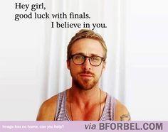 b for bel: Ryan Gosling Understands the Stress of Finals hehe