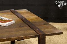 1000 ideas about table basse bois brut on pinterest - Plateau bois brut pour table ...