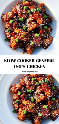Spice Up Your Weeknight Meal By Making Slow Cooker General Tso'S Chicken Crockpot Asian Recipes, Asian Chicken Recipes, Cooking Recipes, Easy Recipes, Crockpot Meals, Chinese Slow Cooker Recipes, Slow Cooking, Popular Recipes, Delicious Recipes