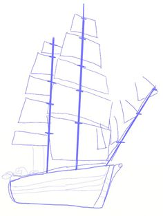 How to draw a Ship, step 4