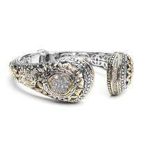 Sculpted 2 tone cz cuff by Mariell product code 3790B