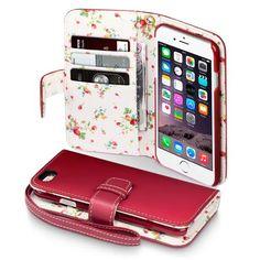 Köp Terrapin Mobilplånbok Apple iPhone 6/6S Blommor röd online: http://www.phonelife.se/terrapin-mobilplanbok-apple-iphone-6-blommor-rod