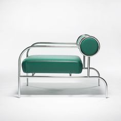 Shiro Kuramata for Cappellini; easy chair, chromed tubular metal and leather, Japan/Italy, 1982 Furniture Logo, Rustic Furniture, Vintage Furniture, Cool Furniture, Modern Furniture, Furniture Design, Furniture Online, Outdoor Furniture, Sofa Chair