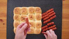 Mini Party Hotdogs on King's Hawaiian Rolls