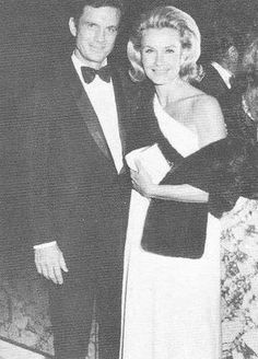 Dina Merrill and, Second Husband Cliff Robertson.