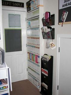 Incredible use of space. Would love to make one of these for my Cricut cartridges!!!