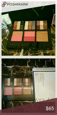 Brand New Mary Kay Cosmetic Tray New UNUSED 18 Eyeshadow Colors, 4 Blushes, 1 Bronzer, 1 Tray (Already Assembled. Never been used. Gorgeous pallets!) Cover and Box included Mary-Kay lip gloss and perfume trials included with purchase.  Bundle and save!  30% off 3 items I'm also open to offers, just use the offer button :) Mary Kay Makeup
