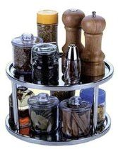 Let this double tier lazy Susan do all the work when passing condiments with its durable stainless steel design–it'll twirl the night away without tire. Condiments not W x H x DStainless steelHand washImported Fridge Storage, Kitchen Storage, Spice Jars, Lazy Susan, Break Room, Kitchen Gadgets, Kitchen Stuff, Kitchen Things, Kitchen Ideas