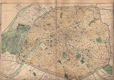 Old Paris Map