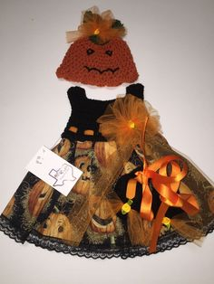 Mic Crafts Handmade Crochet Baby Costume Jack O'Lantern Halloween 3pc | eBay