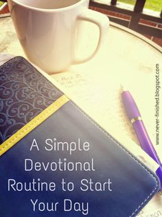 What could be a better way to start the day than spending time with God? This is a super simple devotional method that can be really life-changing!!!
