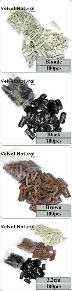 Wig Clips 3.2cm Hair Extensions Clips 5 Colors Optional Snap Clips For Hair Extensions For Hair Weave Clips/Lace Wigs Accessorie