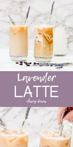 I love good coffee recipes iced, and this lavender latte recipe is one of my favorites! It's an insanely easy iced coffee recipe even though it looks like the gorgeous, complicated diy iced coffee recipes or latte recipe you'd order at an upscale coffee Vanilla Iced Coffee, Iced Coffee At Home, Iced Latte, Coffee Latte, Coffee Shop, Lavendar Latte, Lavender Latte Recipe, Blended Coffee Recipes, Iced Mocha Recipe