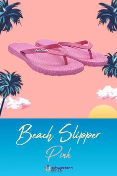 Beach Slipper Pink 💦☀ Nur CHF 19.90!  Ideale Badesandalen mit Schrägriemenbefestigung. Tolle Sommerbegleiter 💖 Flipflops für die Badi oder für warme Sommerabende. Jetzt bei schwesternuhr.ch bestellen. Ohne Versandkosten. Schweizer Unternehmen.  #schwesternuhrch #schwesternuhr #schwesternschuhe #sommerschuhe #beachslipper #flipflop Flipflops, Slipper, Pink, Beach, Beautiful Sandals, Comfortable Sandals, Comfortable Shoes, Hiking Supplies, News