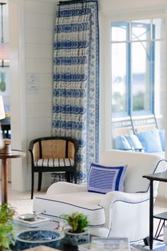 Join me on a tour of the 2017 Coastal Living Idea House designed by Mark D. Sikes - coastal perfection in blue and white!