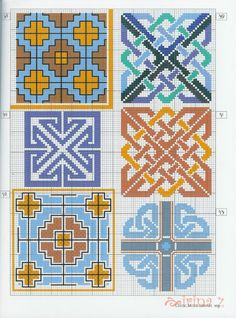 Gallery.ru / Photo # 90 - Celtic patterns - Clematis Celtic Cross Stitch, Cross Stitch Baby, Cross Stitch Embroidery, Cross Stitch Patterns, Quilt Patterns, Celtic Quilt, Celtic Knot Designs, Palestinian Embroidery, Celtic Patterns