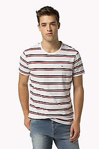 Shop the white cotton blend t-shirt from the latest Tommy Hilfiger t-shirts collection for men. Free returns
