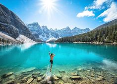 Morning dip  / Lake Moraine Canada /  Chris Burkard Photography Say Yes To Adventure