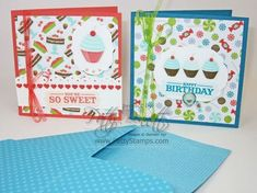 Sweet Shop 4x4 cards and envelopes
