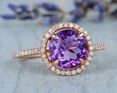 HANDMADE RINGS & BRIDAL SETS by MoissaniteRings on Etsy Bridal Ring Sets, Handmade Rings, Heart Ring, Amethyst, Engagement Rings, Floral, Flowers, Etsy, Jewelry