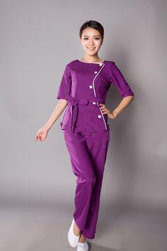 T2f_o1XfNXXXXXXXXX_!!11449077 Staff Uniforms, Medical Uniforms, Spa Uniform, Medical Scrubs, Salon Design, Summer Beauty, Spas, Housekeeping, Smocking