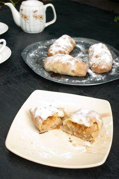 Strudel Dough Recipe - How to make Strudel Dough Pastry [Easy! Mini Apple Strudel Recipe, Strudel Dough Recipe, Strudel Recipes, Austrian Recipes, Austrian Food, German Recipes, Hungarian Cuisine, Puff Pastry Dough, No Bake Pies