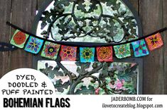 How to Make Bohemian Garden Flags