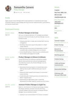 11 Best Product Manager Resume Samples Images Formal Management