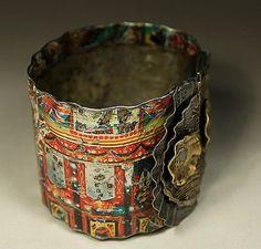 rustic boho gypsy tin cuff