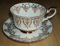 Beautiful vintage english china teacup and saucer set by Paragon ~ Last day to purchase on eBay!