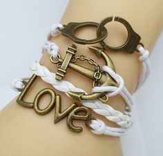 Hot Sell Fashion Retro Pigeon handcuffs rudder LOVE A variety of colors Leather Cute Charm Bracelet Braided Bracelets, Bangle Bracelets, Bangles, Leather Bracelets, Pigeon, Love Shape, Vintage Owl, Cute Charms, Vintage Leather
