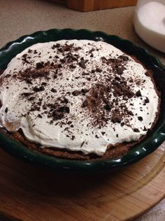Low Carb Mocha Cheesecake Cookie Pie shared on https://www.facebook.com/lowcarbtestkitchen