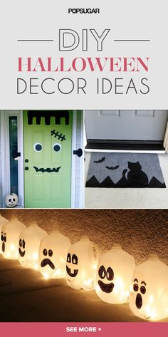 Pin for Later: Get Spooky: 22 Adorable DIY Decor Ideas For Halloween Family Halloween Costumes, Halloween 2015, Holidays Halloween, Spooky Halloween, Happy Halloween, Halloween Party, Fall Art Projects, Halloween Projects, Diy Halloween Decorations