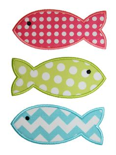 Fishes Applique Design by AppliqueChick on Etsy, $4.00
