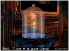 Sims 4 Updates: Sims by Severinka - Objects, Decor : Rose in a glass dome, Custom Content Download!