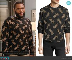 cfb901a82d Andre s stamped leopard print sweater on Black-ish