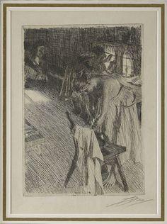 ANDERS ZORN  1860-1920  Söndagsmorgon (Sunday morning)   1894