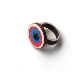 Colorful wooden ring