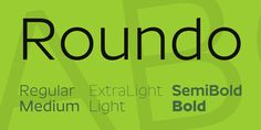 New free font 'Roundo' by Indian Type Foundry · Free for commercial use · #freefont #font