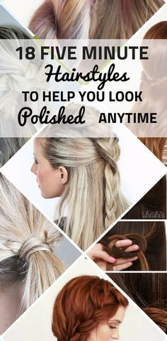 Five minute hairstyles that will make you look polished anytime. Easy step by step tutorials for the busy mornings when you are running late. diy hairstyles 18 Five-Minute Hairstyles To Help You Look Polished Anytime Five Minute Hairstyles, Step By Step Hairstyles, Quick Hairstyles, Weave Hairstyles, Running Hairstyles, Doll Hairstyles, Romantic Hairstyles, Medium Hair Styles, Curly Hair Styles