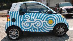 graphic is the way to go with the wrap Vehicle Signage, Vehicle Branding, Car Lettering, Van Wrap, Car Colors, Smart Car, Cute Cars, Car Brands, Commercial Vehicle